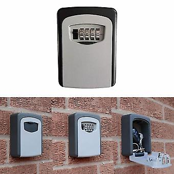 Wall Mounted Lock Box, Key Storage Digital Combination, Safe Security Holder