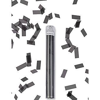 Zwart rechthoek confetti kanon 27 cm