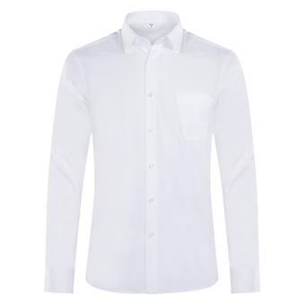 Yunyun Men's Lapel Solid Color Business Slim Casual Long-sleeved Shirt With Pockets