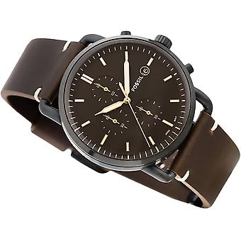 Fossil Analog quartz men's watch with leather FS5403