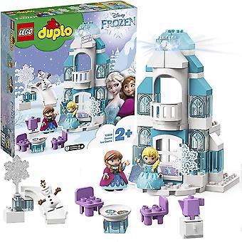 HanFei 10899 DUPLO Princess Frozen Elsas Eispalast, Bausatz mit einem Leuchtstein, Prinzessin Elsa