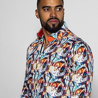 NON-DISCOUNTED / SALE ITEM Stained Glass Retro Print Shirt