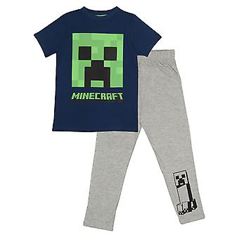 Minecraft Boys Creeper Pyjama Set