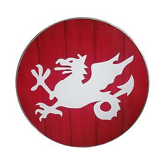 Hölzerne Wikinger handgemachte Drachen der Hölle Schild SWE16