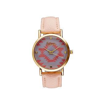 Muse - Montre Femme doré 'Manille' - cadran gris rose bracelet rose