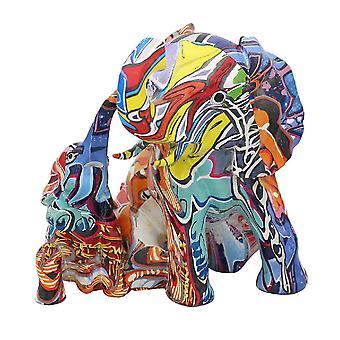 Graffiti Elefanter Sitter Figurine Ornament