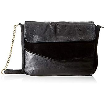 PIECES PCSVALE Leather Cross Body FC, Women's Folder Bag, Black, One Size Fit