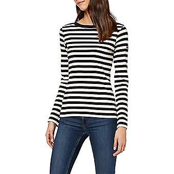 Armor Lux Erquy T-Shirt, Multicolored (Rich Navy/Nature Bi5), Medium (Size Manufacturer: 2) Woman
