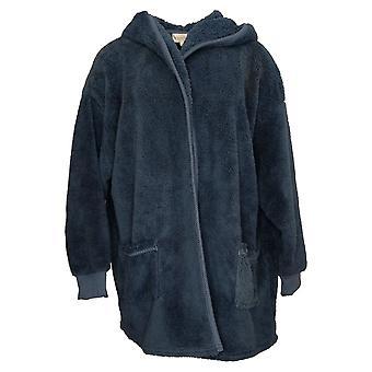 Koolaburra Przez UGG Damski Sweter Przytulny Kudłaty Plush Kardigan Niebieski A386142