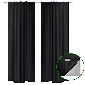 Cortinas escurecendo de dupla camada140x245cm preto