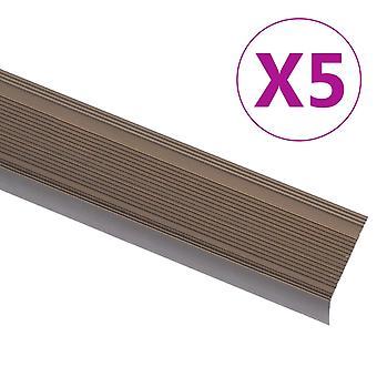 profilo bordo scala vidaXL in alluminio 90cm marrone a forma di L