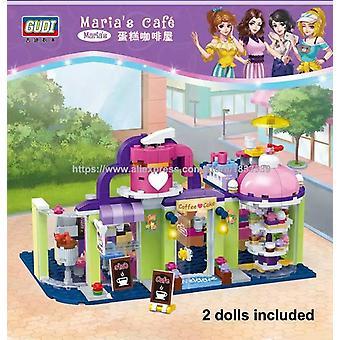 ماريا &#039 ومقهى مقهى كعكة متجر بناء الطوب التعليم مجموعات اللعب للفتيات هدية متوافقة مع الأصدقاء