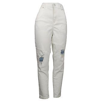 DG2 by Diane Gilman Women's Jeans Reg Stretch Crosshatch White 740964