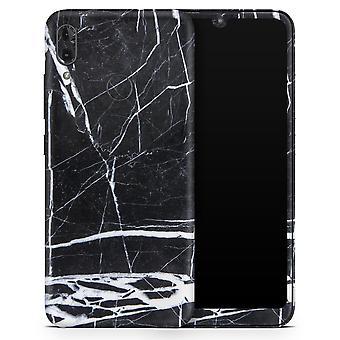 Pedra de mármore natural preto e branco - Kit de envoltório de decalque da pele do corpo completo