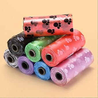 50 100 rotoli sacchetto di cacca per cani degradabile sacchetti di plastica per cagnolino per cani