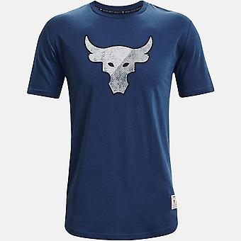 Under Armour Mens Project Rock Short Sleeve T-Shirt Crew Neck T Shirt Tee Top