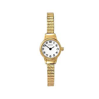 Sekonda 4474 White And Gold Ladies Expander Watch