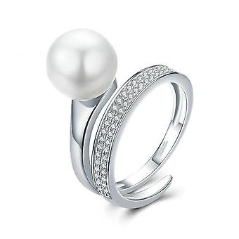 Silver plating Elegant Round Finger Rings for Women  Jewelry