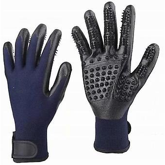 Pet Gloves - Fresh Dust Brush Gloves - Effective Pet Hair Removal Gloves - Improved Five Finger Design - Perfectly Matching Long-haired Cats And Dogs