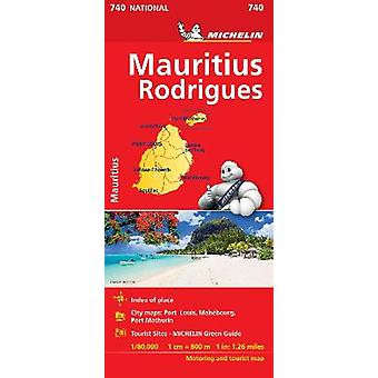 Maurice Mauritius  Michelin National Map 740 Map Michelin National Maps