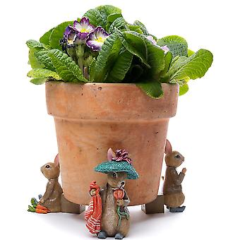 Potty Feet Beatrix Potter Benjamin Bunny Plant Pot Feet Multicolor 3pc