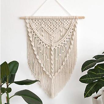 Macrame Wall Hanging Tapisserie Coton fait à la main Bohème Tissé à la main Magnifique Artisanat d'art