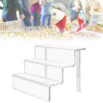 Acrylic Riser Display Shelf For Figures, Cupcakes  Clear|Storage Holders & Racks