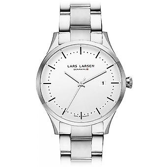 LLarsen (Lars Larsen Silver Stainless Steel) 119SWSB Men's Watch