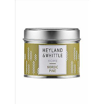 Candles heyland whittle nordic pine candle in a tin 180g