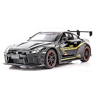 Toy cars 1/32 alloy r35 sports car model toy die cast sound light pull back racing car toys vehicle|diecasts