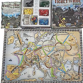 Tile games european ticket tour board game children tent funny creative diy game kids toy