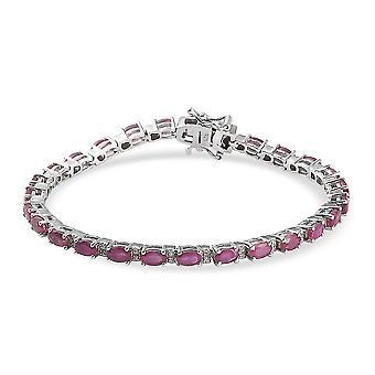 Ruby, Zircon Tennis Armband Zilveren Cadeau voor vrouw / vriendin / moeder 13.26ct (7 inch)