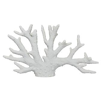 Plutus Brands Coral Tabletop Decoration in White Resin - PBTH93790