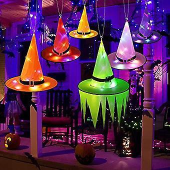 هالوين الديكور الساحرة القبعات سلسلة أضواء مع بطارية تعمل، شنقا مضاءة قبعة ساحرة متوهجة في الهواء الطلق، في الأماكن المغلقة، حديقة، يارد، هالوين السلطة الفلسطينية
