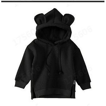 Autumn Baby Boys And Girls Hooded Shirt Children Kids Solid Jacket Cotton Fleece Sweatshirt Kids Jackets For Girls