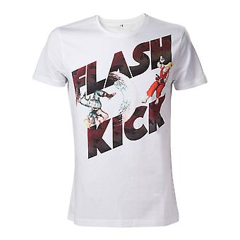Capcom Street Fighter IV adulto masculino manhãs Flash Kick tamanho XL de t-shirt - White