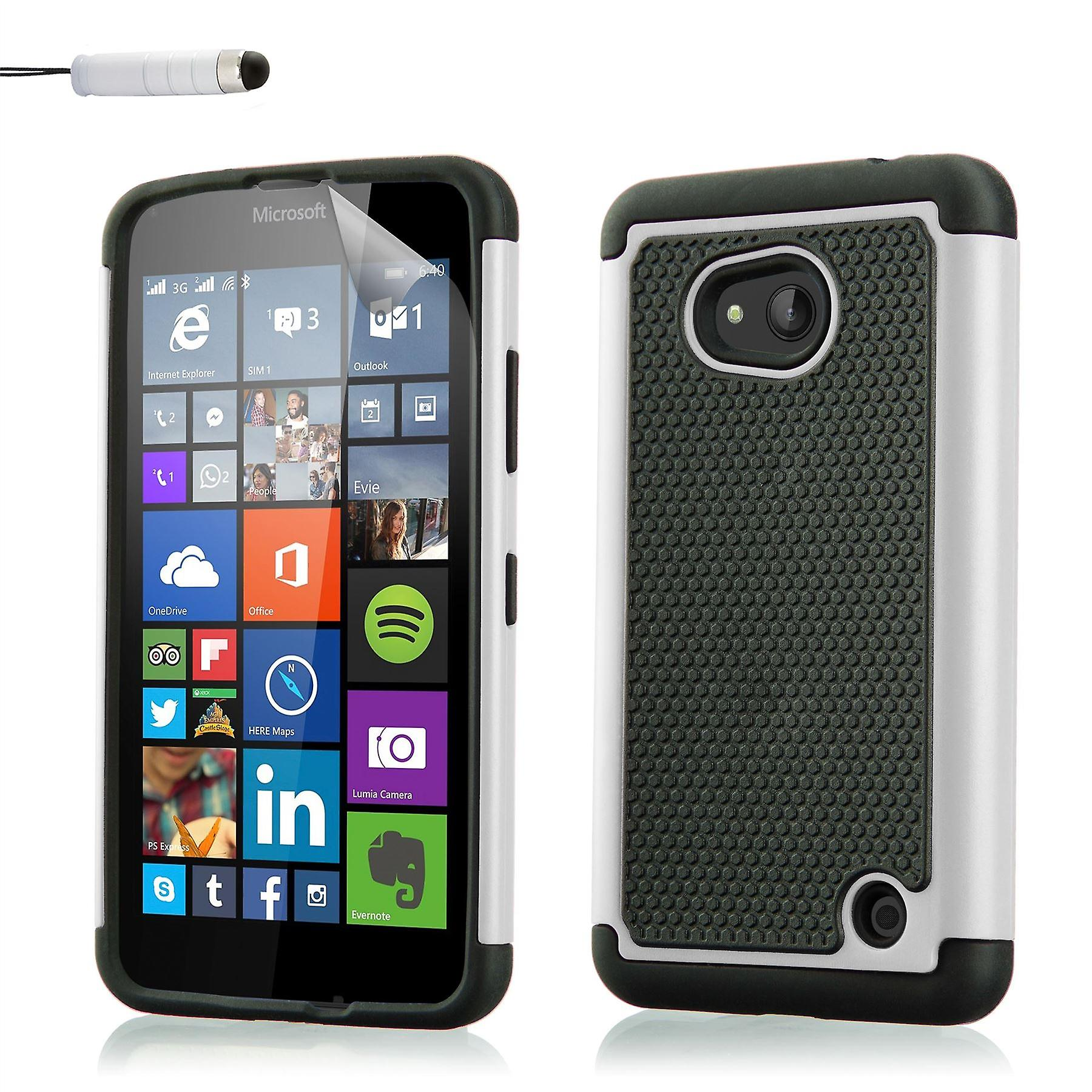 Shock proof case for Microsoft Lumia 640XL (Discontinued)+ stylus - White
