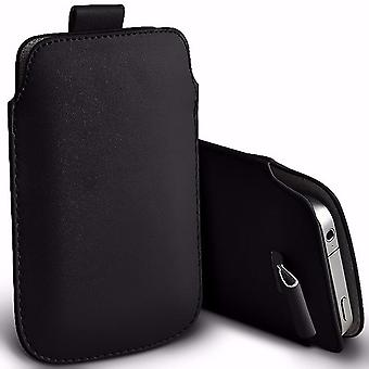 i-Tronixs Premium Stylish Faux Leather Pull Tab Pouch Skin Case Cover For Intex Aqua Eco 4G (4