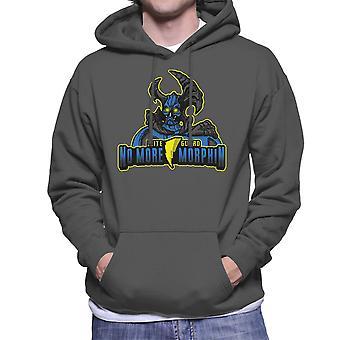 No More Morphin Matacore Power Rangers Men's Hooded Sweatshirt