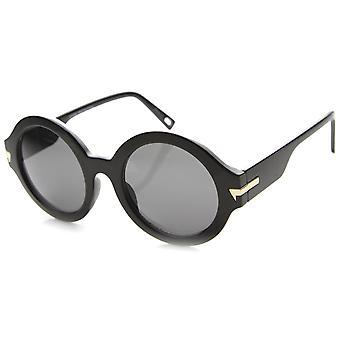 Womens ronde lunettes de soleil UV400 protection lentille Composite