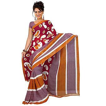 Tessuto di Marza Georgette stampata Casual Sari Sari Bellydance