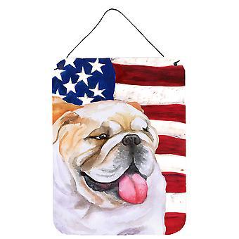 Engels Bulldog patriottische muur of deur hangen Prints