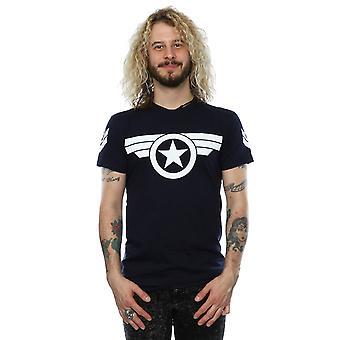 男子キャプテン アメリカ スーパー兵士 t シャツを驚嘆します。