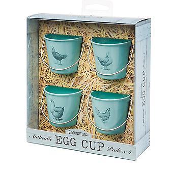 Eddingtons Vintage Hens Egg Cup Pails, Set of 4