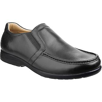 Fleet & Foster Mens Gordon Dual Fit Moccasin Leather Loafer Shoes