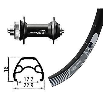 אופניים-חלקי 26-גלגל קדמי Rodi M 460 דיסק + מרכז המרכז XT (QR)
