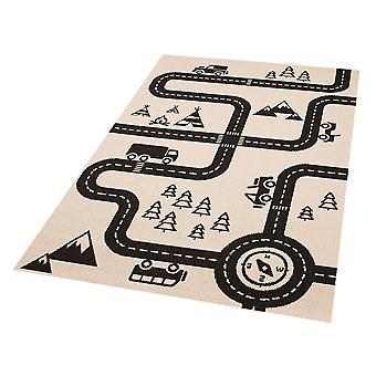 Kids play mat road map Charly 120 x 170 cm. Carpet nursery