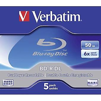 Verbatim 43748 lege Blu-ray BD-R DL 50 GB 5 PC (s) Jewel case
