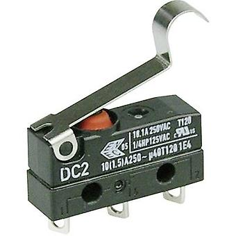 ZF Microswitch DC2C-A1SC 250 V AC 10 A 1 x On/(On) IP67 momentary 1 pc(s)
