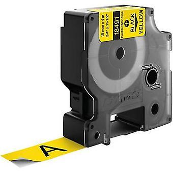 Etikettering tape DYMO IND RHINO 18491 Tape kleur: geel lettertype kleur: zwart 19 mm 3.5 m